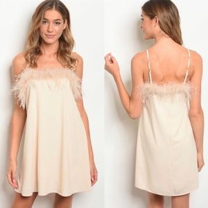 Cream Fur Mini Dress *143rd Style Haus* NEW!
